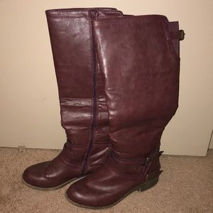 Shoes - Size 10 burgundy riding boots great condition